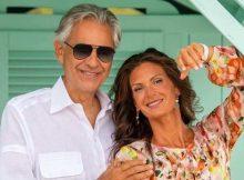 Andrea Bocelli e la moglie